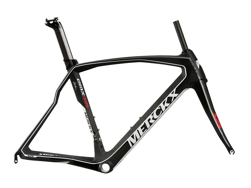 Eddy Merckx EMX525 Framekit 52cm - Red/White/Carbon