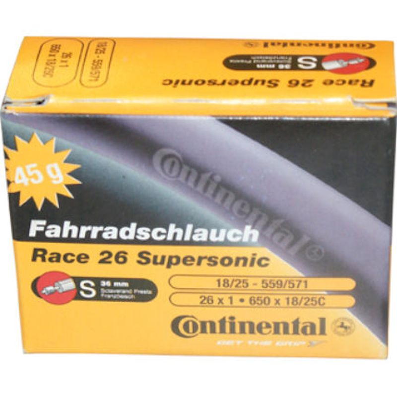 """Continental Race 26 Supersonic Inner Tube - 26""""/650c"""