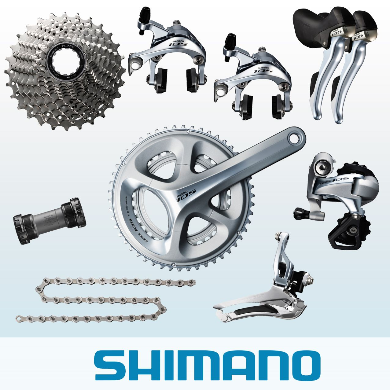 b616d7aa5a3 Shimano 105 5800 11 Speed Groupset Silver | Merlin Cycles
