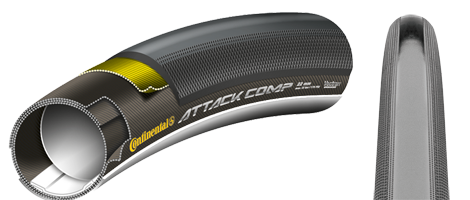 Continental Attack Comp Tubular Road Tyre