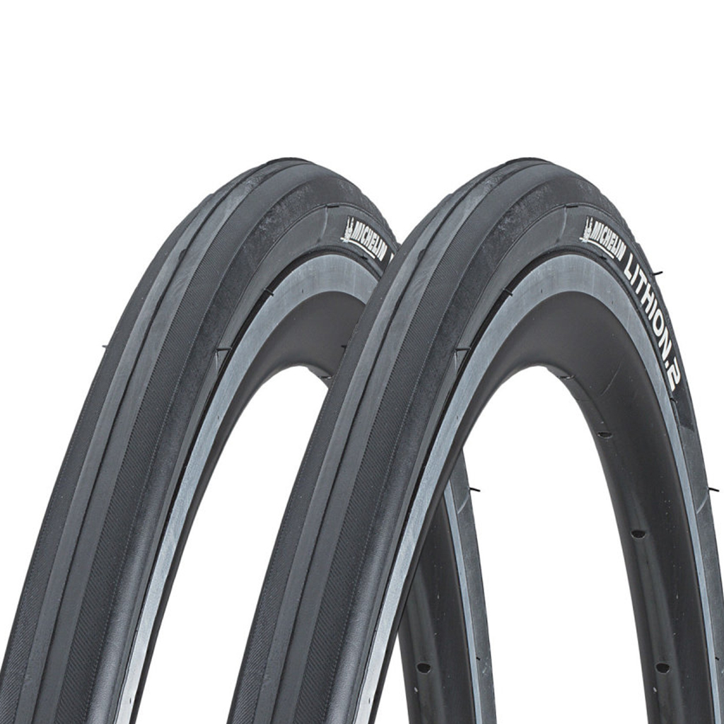 Pair Michelin Lithion 2 Folding Road Tyres & Innertubes.