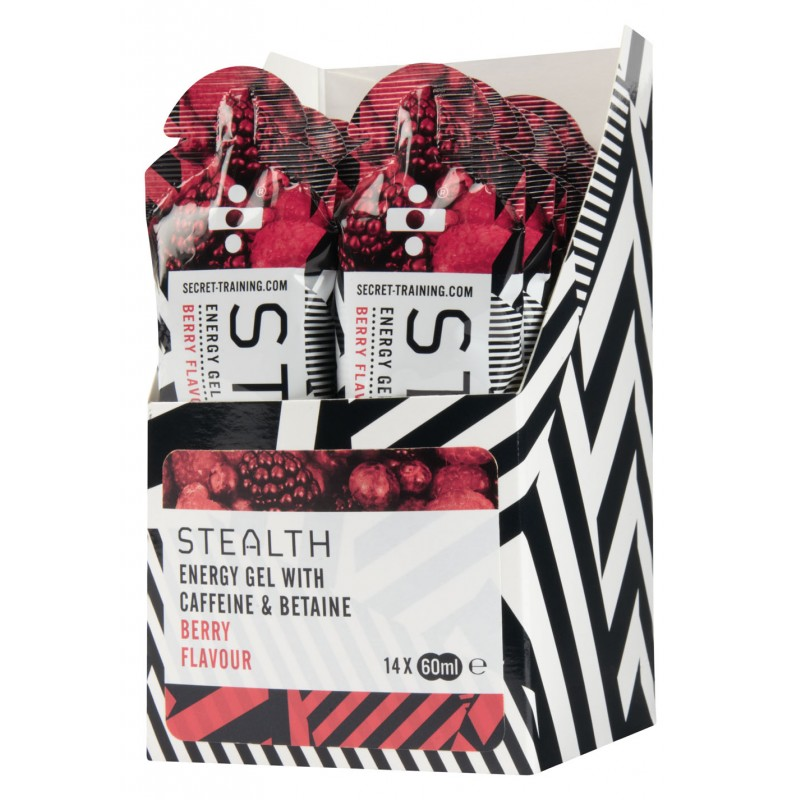 Secret Training Stealth Energy Gels With Caffeine & Betaine - 14 Pack