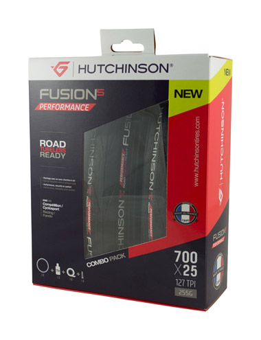 Pair Hutchinson Fusion 5 Performance Tubeless Ready Road Tyre & Tubeless Kit