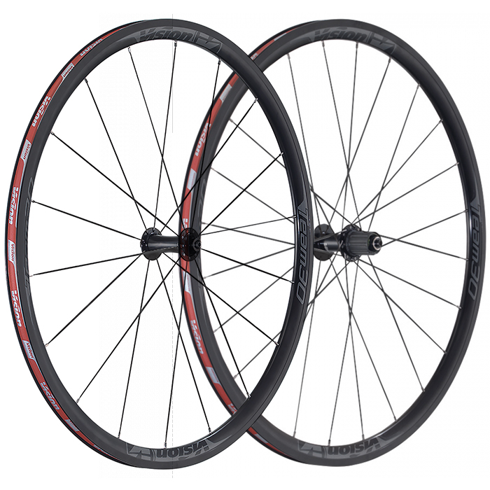 Vision Team 30 Comp Clincher Road Wheels With Hutchinson Tyres - 700c