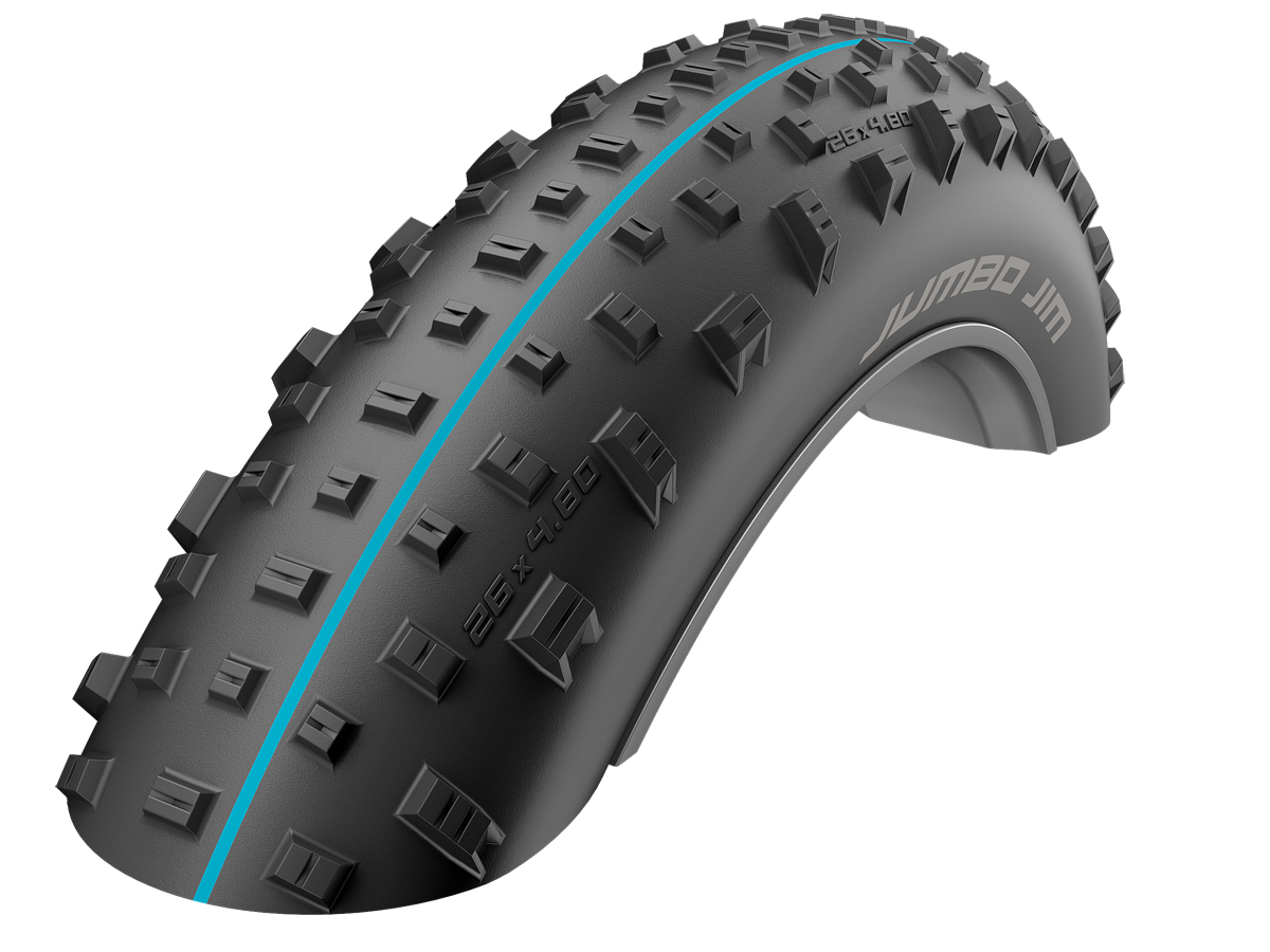 "Schwalbe Jumbo Jim Addix Folding Fat Bike Tyre - 26"""
