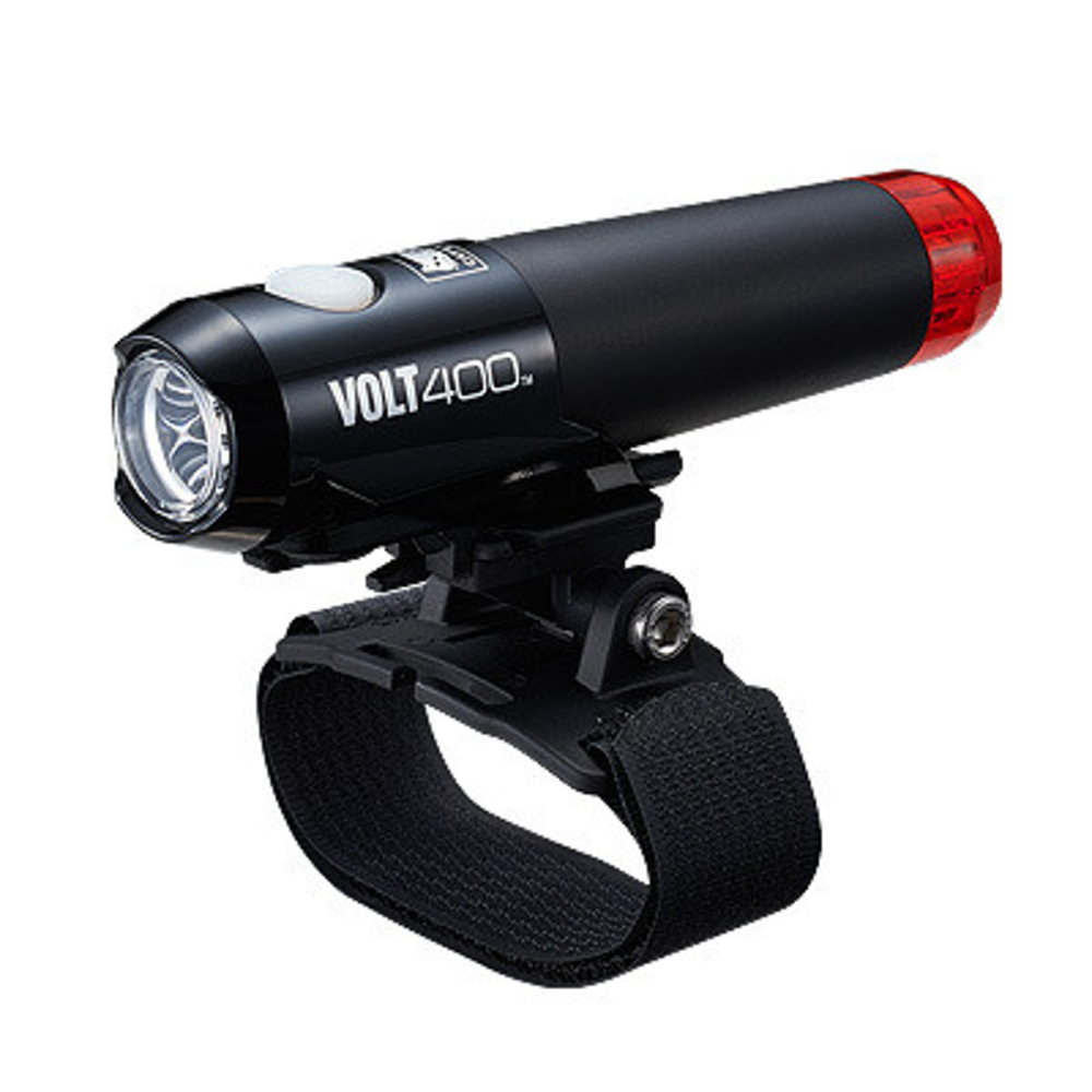Cateye Volt 400 Duplex Front & Rear Rechargeable Helmet Light