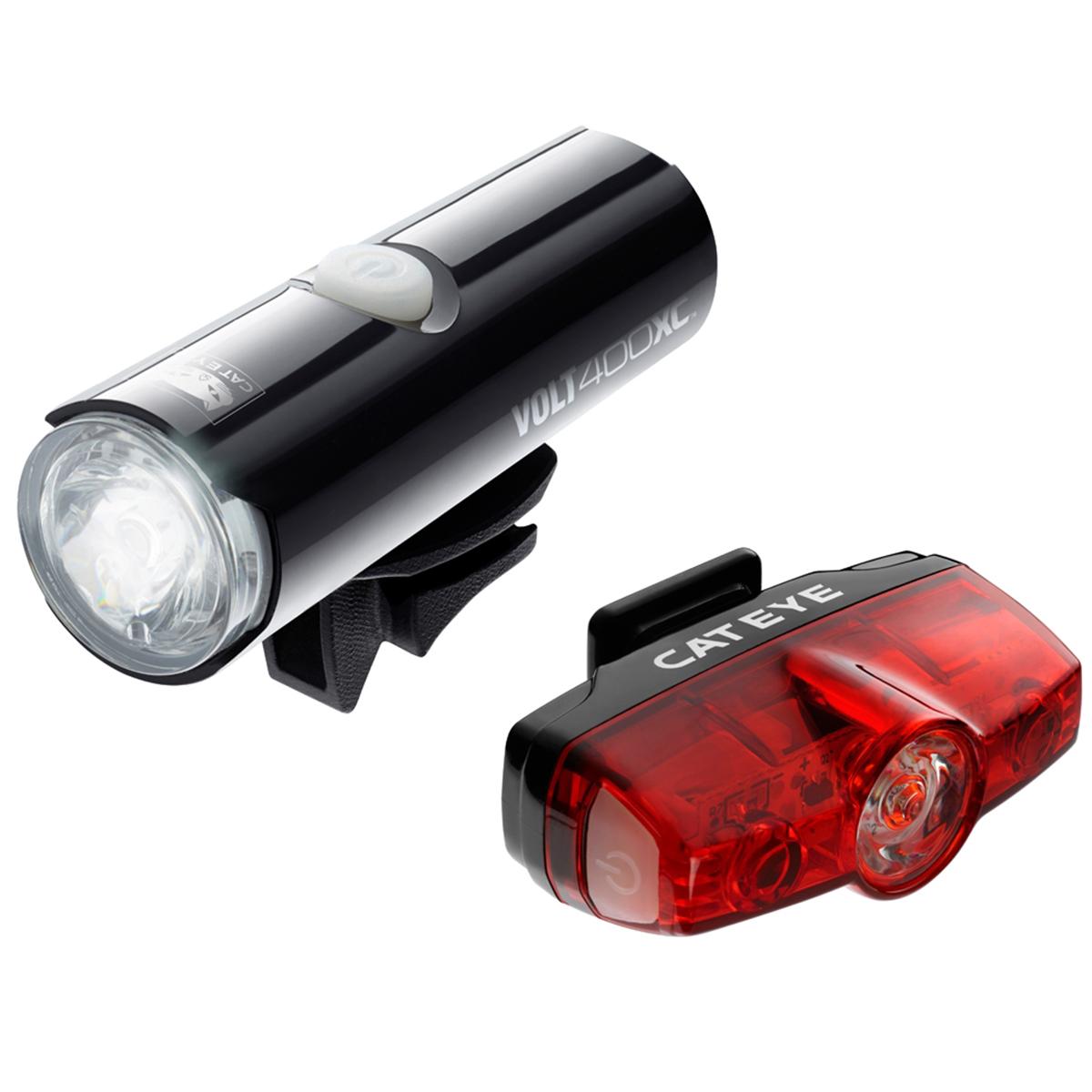 Cateye Volt 400XC & Rapid Mini Rechargeable Light Set