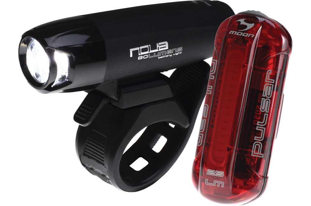 Moon Nova 80 & Pulsar Bike Light Set