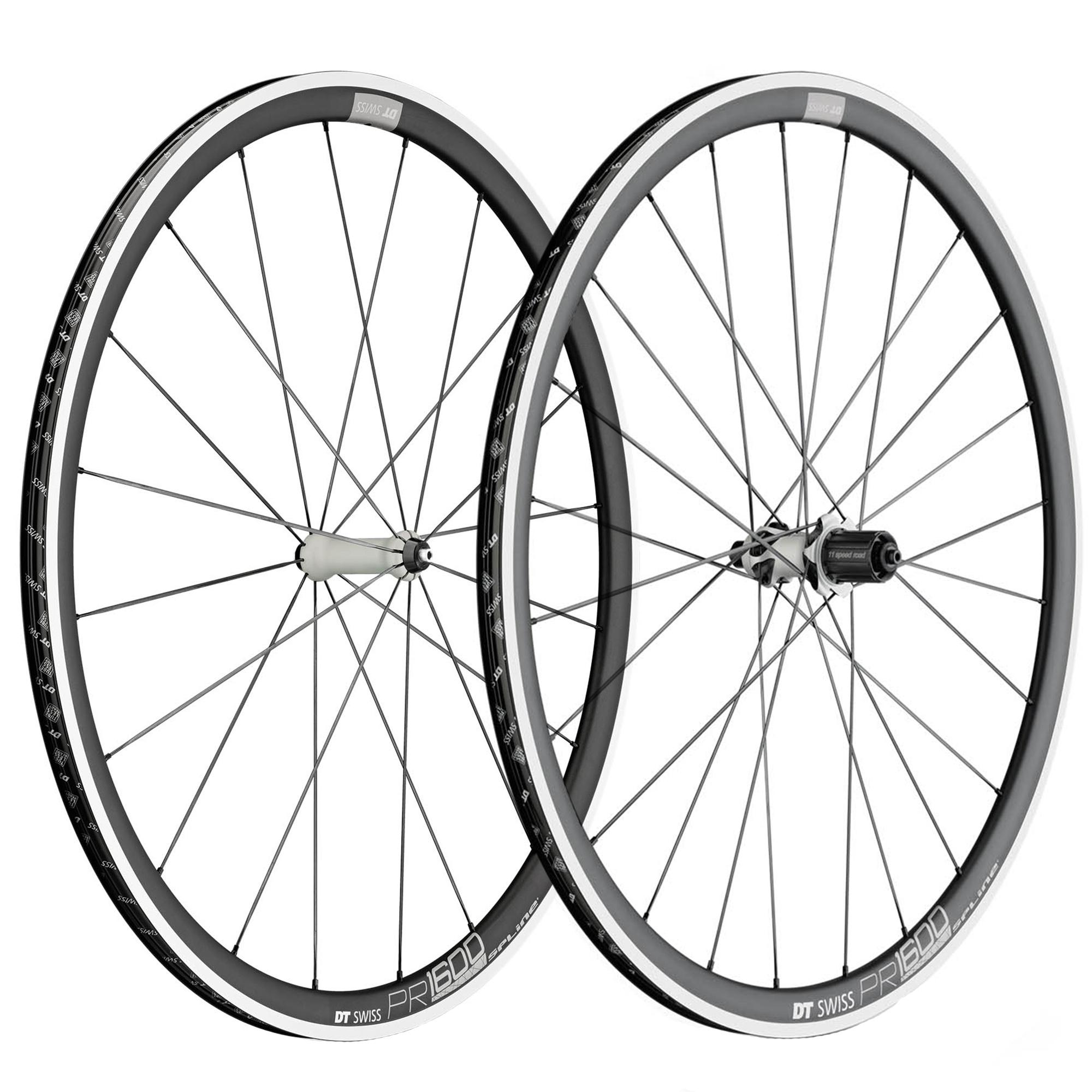 DT Swiss PR 1600 Spline 32 Clincher Road Wheelset - 700c