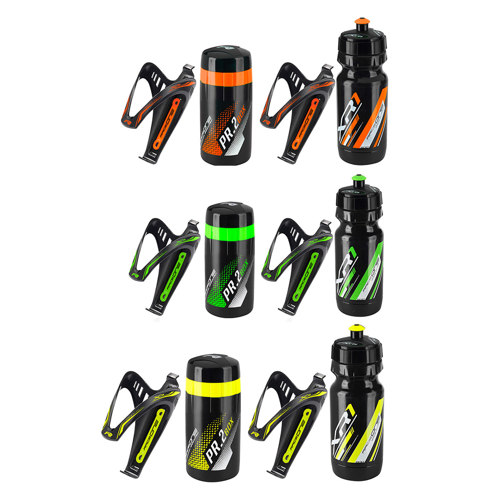 Raceone Kit X3 – 2x Bottle Cages with Bottle & Toolbox