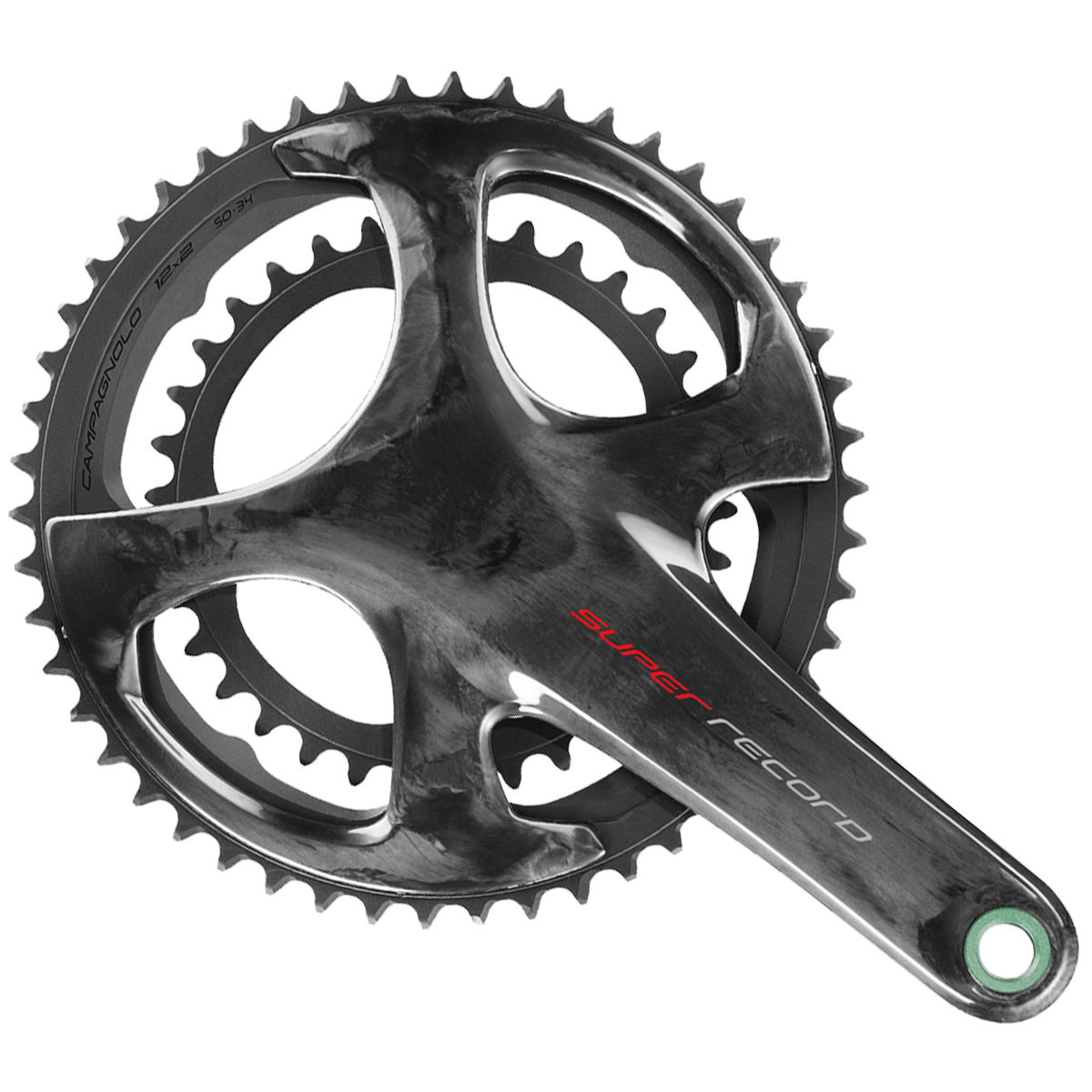 Campagnolo Super Record Carbon Ti Ultra Torque Chainset - 12 Speed