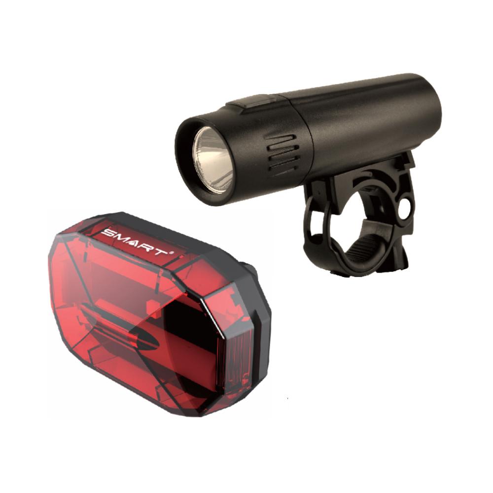 Smart Nine 80 Front Light & Diamond 3 LED Rear Bicycle Light Set