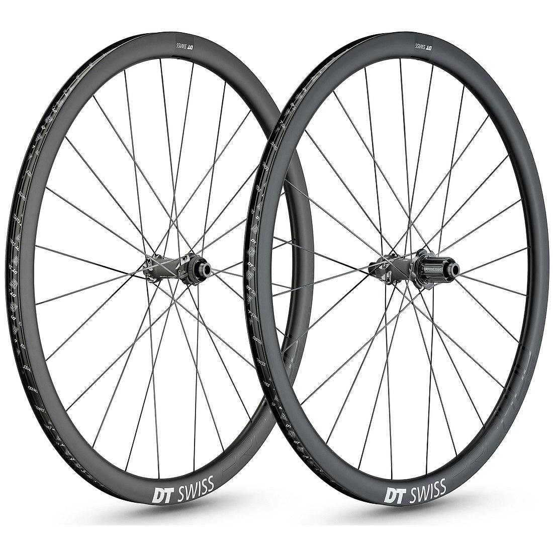 DT Swiss PRC 1400 Spline 35 Carbon Disc Road Wheelset - 700c