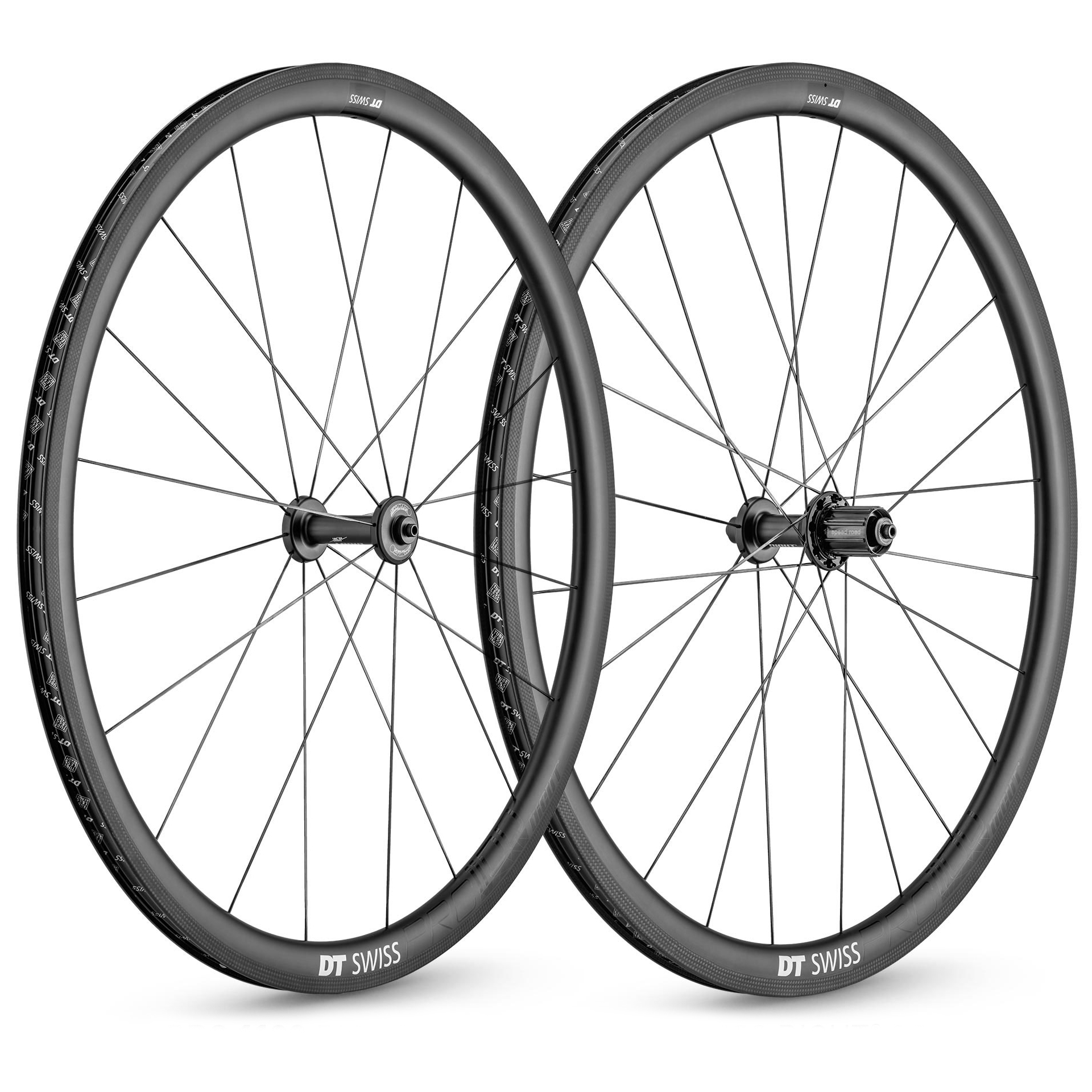 DT Swiss PRC 1100 Dicut 35 Carbon Road Wheelset - 700c | Merlin Cycles