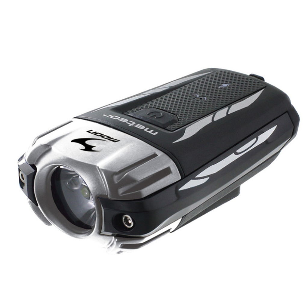 Moon Meteor C1 Silver Rechargeable Front Bike Light