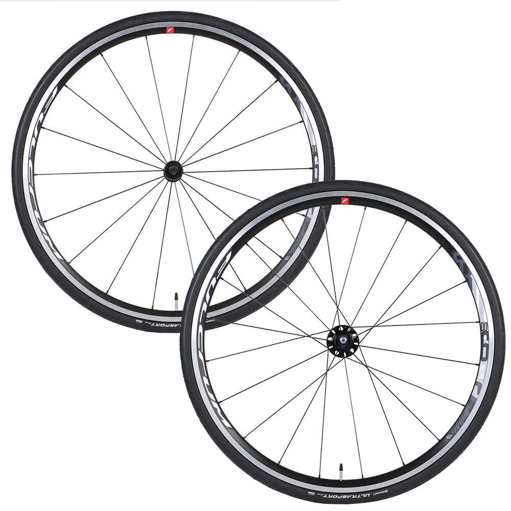 Fulcrum Racing 600 LG C17 Clincher Road Wheelset with Continental Ultrasport II Tyres