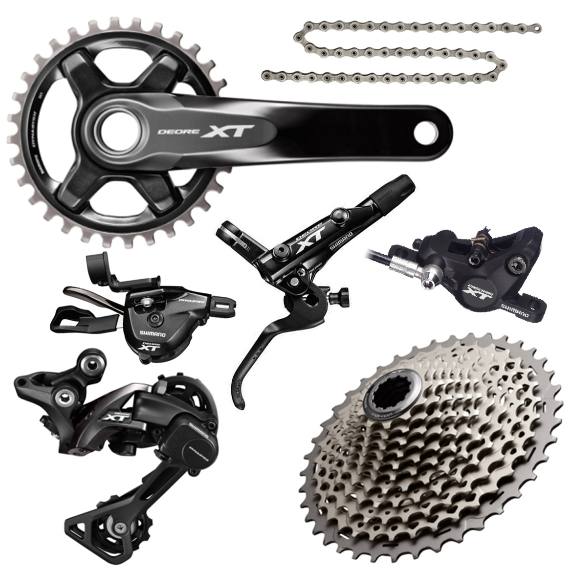 2c3813b069b Shimano XT M8000 1x11 Disc Brake Groupset | Merlin Cycles