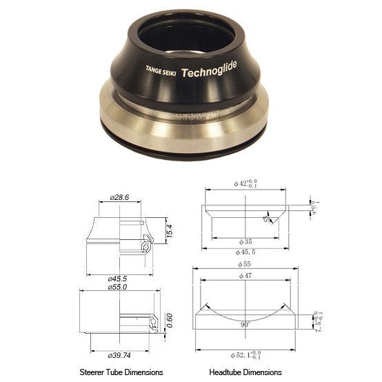 "Tange Seiki Technoglide IS245 Fully Intergrated Headset 1 1/8""-1 1/2"""