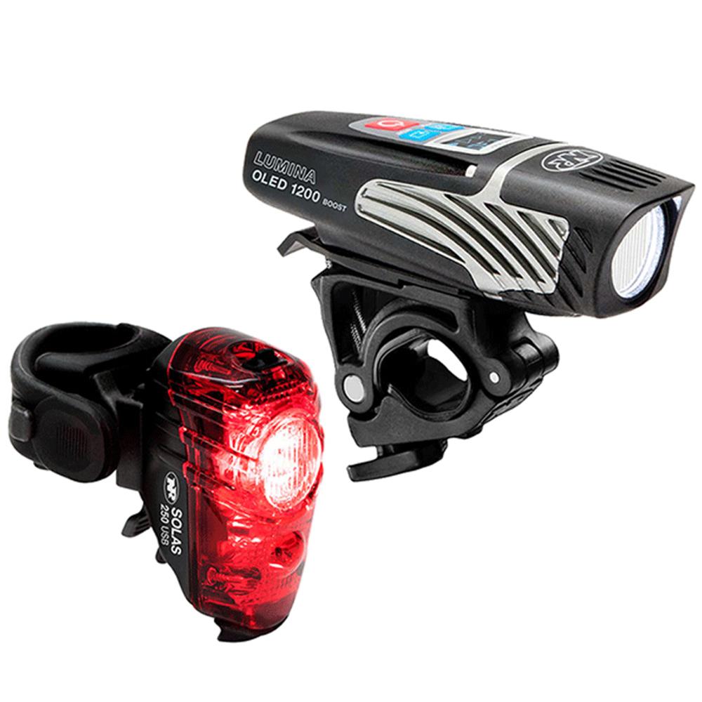 NITERIDER Lumina 1200 OLED Boost / Solas 250 Bike Light Set