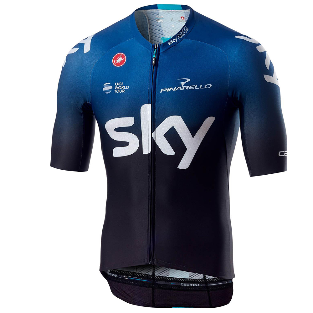 Castelli Team Sky Aero Race 6.0 FZ Short Sleeve Cycling Jersey