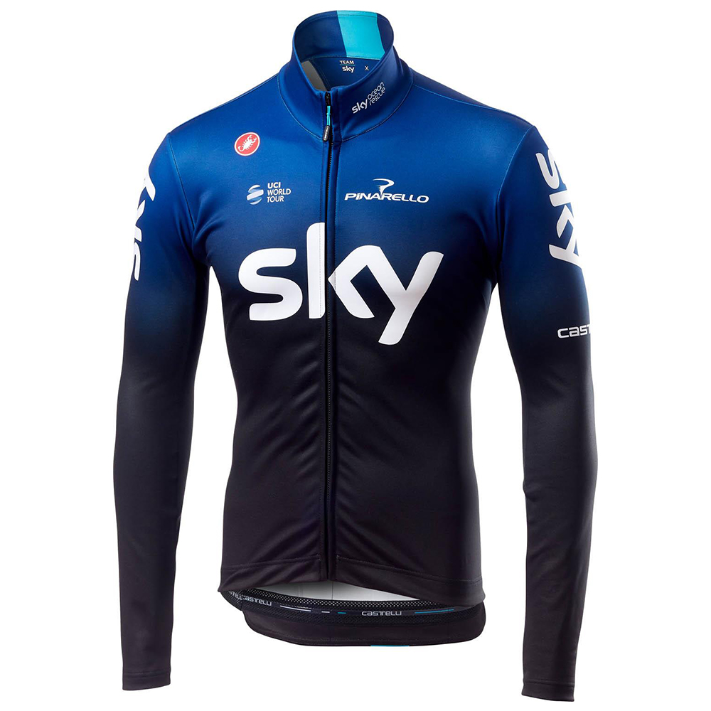 Castelli Team Sky Long Sleeve Thermal Cycling Jersey