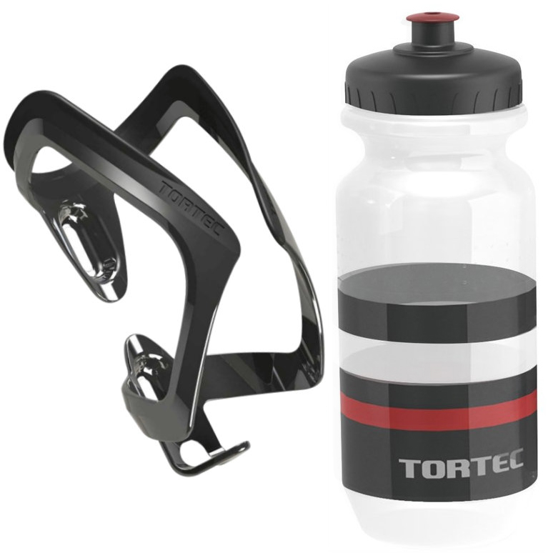 Tortec Air Bottle Cage With Tortec Jet Bottle - Black & Red