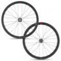 Wilier SLR42 KC Disc Carbon Clincher Road Wheelset - 700c - Black / Shimano / 12mm Front - 142x12mm Rear / Centerlock / Pair / 1