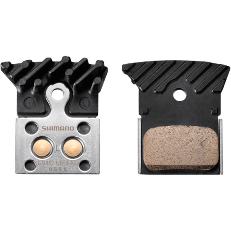 Shimano L04C Disc Brake Pads With Cooling Fins - Sintered