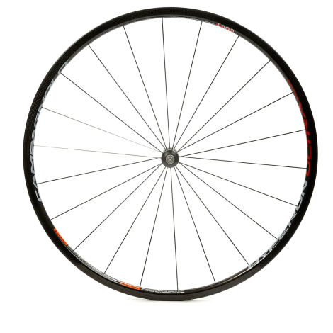 Campagnolo Hyperon Ultra Two Tubular Carbon Road Front Wheel - 700c - Black / Front / Tubular / 700c