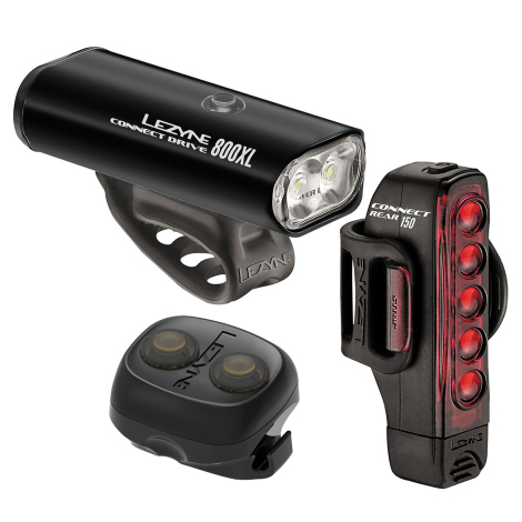 Lezyne Connect Drive 800XL / Strip Connect Rechargeable Bike Light Set