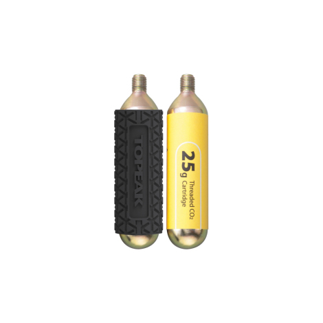 Topeak 25g CO2 Cartridges with Sleeve – 2 Pack