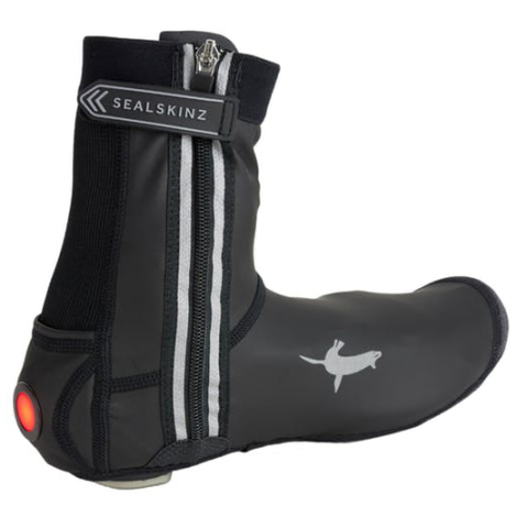 Image of Sealskinz All Weather LED Open Sole Cycle Overshoe - Black / Large