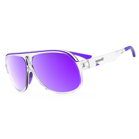 Goodr Superfly Polarized Sunglasses - Sleazy Riders / Transparent / Reflective Violet Lens