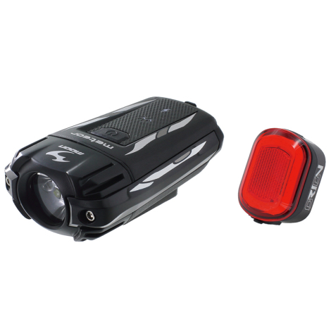 Moon Meteor C1 Front & Orion Rear Rechargeable Bike Light Set - 2019