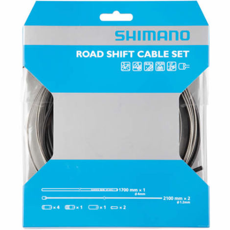 Shimano Road Gear Cable Set With Stainless Inner Wire
