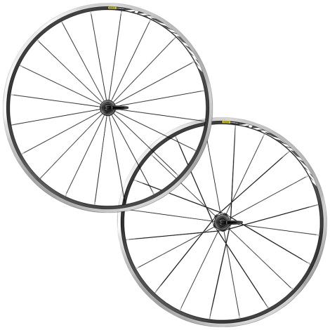 Mavic Aksium Clincher Road Wheelset - Black / Shimano / Pair / 10-11 Speed / Clincher / 700c