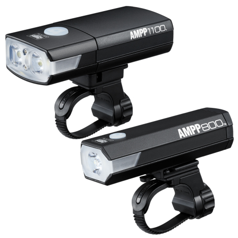 Cateye AMPP 1100 / AMPP 800 USB Rechargeable Front Bike Light Set