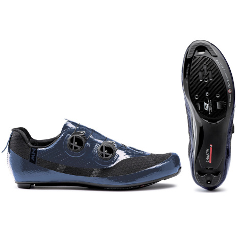 Image of Northwave Mistral Plus Road Shoes - 2021 - Metal Blue / EU45