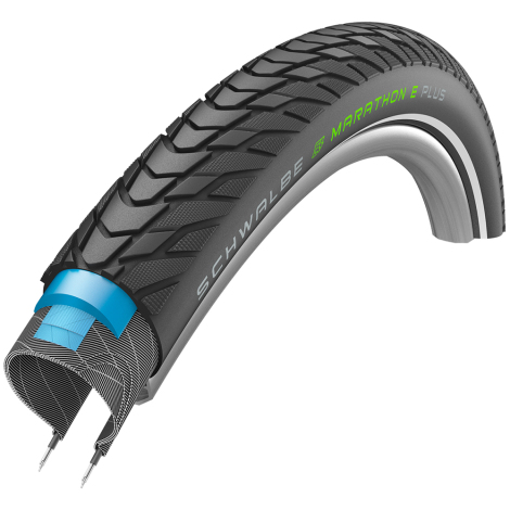 Schwalbe Marathon E-Plus Addix-E Performance Smart DualGuard Wired Road Tyre - 27.5""