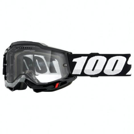 Image of 100% Accuri 2 Enduro MTB Goggles - 2021 - Black / Clear Lens