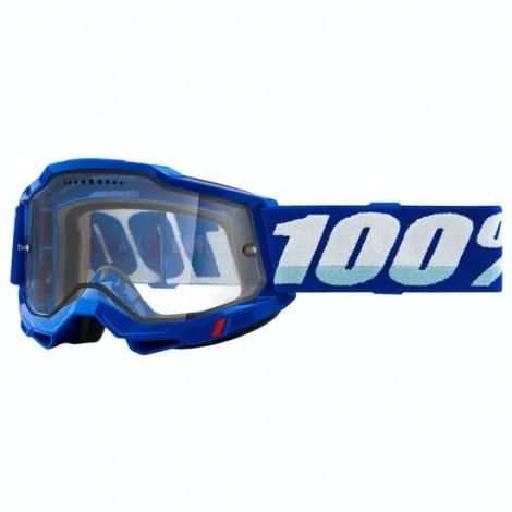 Image of 100% Accuri 2 Enduro MTB Goggles - 2021 - Blue / Clear Lens