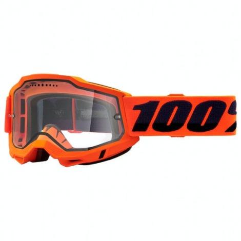 Image of 100% Accuri 2 Enduro MTB Goggles - 2021 - Orange / Clear Lens