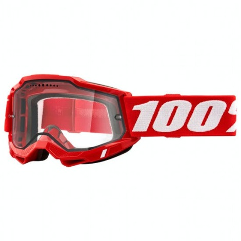 Image of 100% Accuri 2 Enduro MTB Goggles - 2021 - Red / Clear Lens