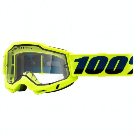 Image of 100% Accuri 2 Enduro MTB Goggles - 2021 - Yellow / Clear Lens