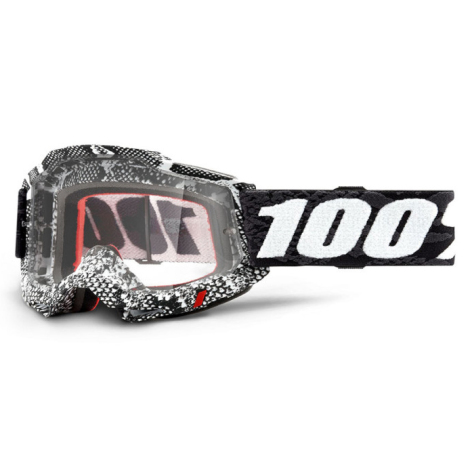 Image of 100% Accuri 2 MTB Goggles 2021 - Clear Lens - Cobra / Clear Lens