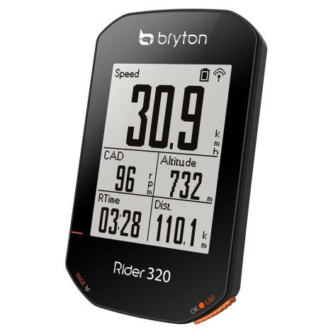 Image of Bryton Rider 320T GPS Cycle Computer Bundle - Black - With Cadence & HR Sensors, Black