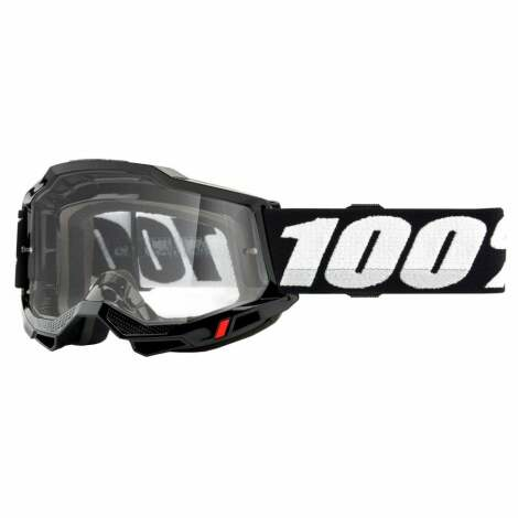 Image of 100% Accuri 2 MTB Goggles 2021 - Clear Lens - Black / Clear Lens
