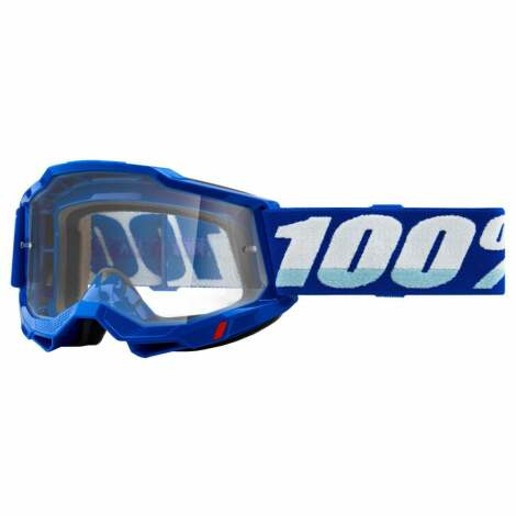 Image of 100% Accuri 2 MTB Goggles 2021 - Clear Lens - Blue / Clear Lens
