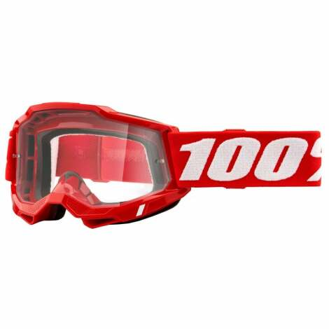 Image of 100% Accuri 2 MTB Goggles 2021 - Clear Lens - Red / Clear Lens
