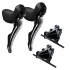 Shimano Dura Ace R9120 Hydraulic Disc STI Levers & R9170 Flat Mount Disc Brake Set - 11 Speed